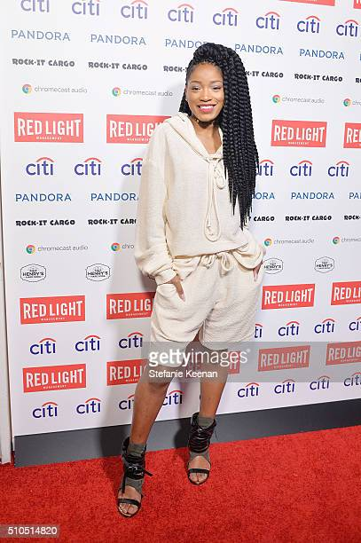 Artist Keke Palmer attends Red Light Management 2016 Grammy After Party presented by Citi at Mondrian Hotel on February 15 2016 in Los Angeles...