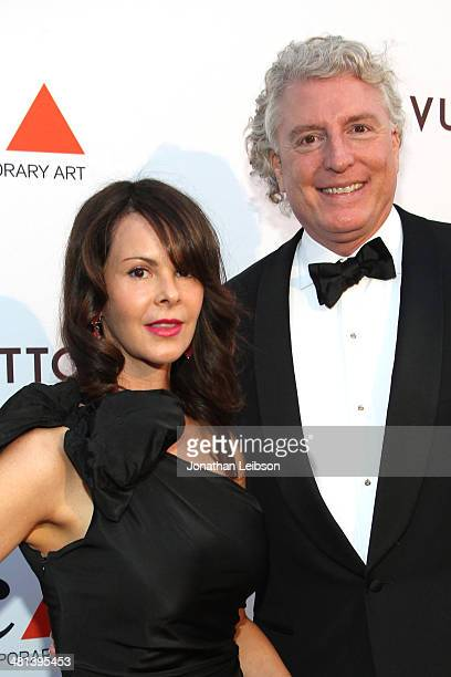 Artist Kelly Lamb and Richard Conley attends MOCA's 35th Anniversary Gala presented by Louis Vuitton at The Geffen Contemporary at MOCA on March 29...