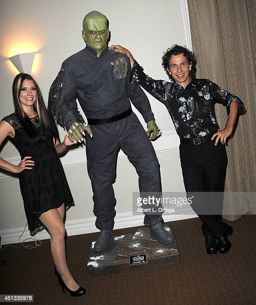 Artist Kelly Mark Delcambre and Kira Tidmore attend the After Party for the 40th Annual Saturn Awards held at on June 26 2014 in Burbank California