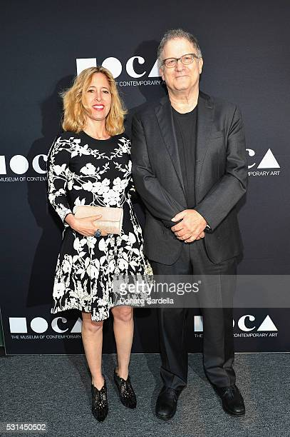 Artist Kimberly Shlain and actor Albert Brooks attend the MOCA Gala 2016 at The Geffen Contemporary at MOCA on May 14 2016 in Los Angeles California