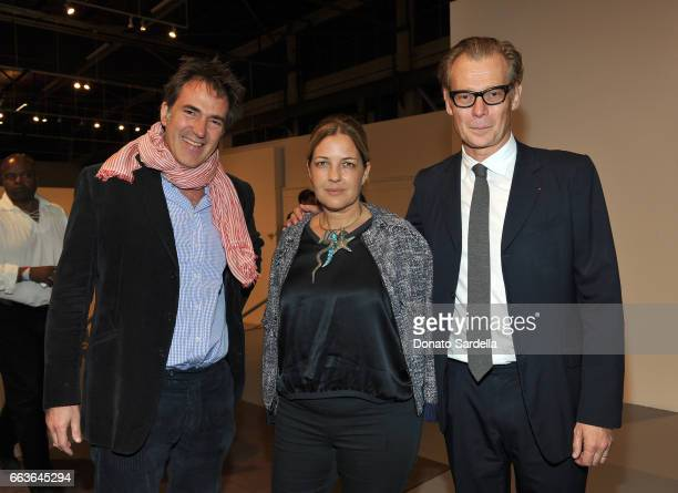 Artist Konstantin Kakanias Cathy Vedovi and Director of MOCA Philippe Vergne attend MOCA's Leadership Circle and Members' Opening of 'Carl Andre...