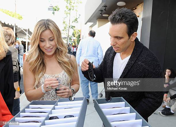 Artist Lana Gomez and comedian Sebastian Maniscalco attend John Varvatos 9th Annual Stuart House Benefit presented by Chrysler held at John Varvatos...