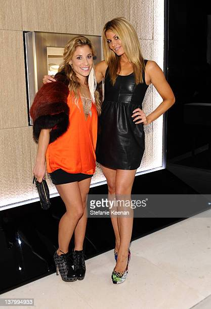 Artist Lana Gomez and TV personality Courtney Hansen attend the opening of Pomellato's Rodeo Drive boutique hosted by Tilda Swinton and benefiting...