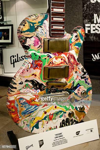Artist Lana Gomez's 'Freedom' guitar art