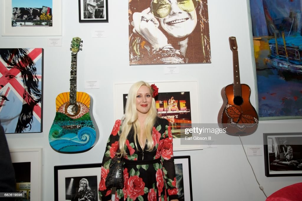 Artist Laura Lamour attends the Malibu Guitar Festival Gallery Opening Reception at Malibu Village on May 12, 2017 in Malibu, California.