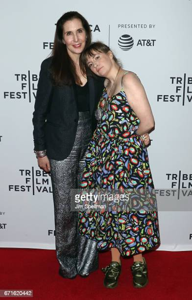 Artist Laurie Simmons and actress Lena Dunham attend the My Art screening during the 2017 Tribeca Film Festival at Cinepolis Chelsea on April 22 2017...