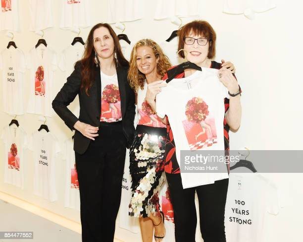Artist Laurie Simmons Designer Michelle Smith and Artist Marilyn Minter attend the MILLY x Laurie Simmons launch party to support Planned Parenthood...