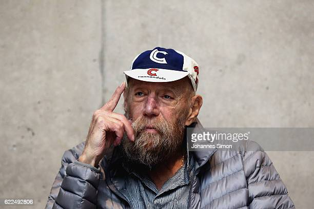US artist Lawrence Weiner attends the opening of his exhibition 'Wherewithal Was es braucht' at Kunsthaus on November 11 2016 in Bregenz Austria