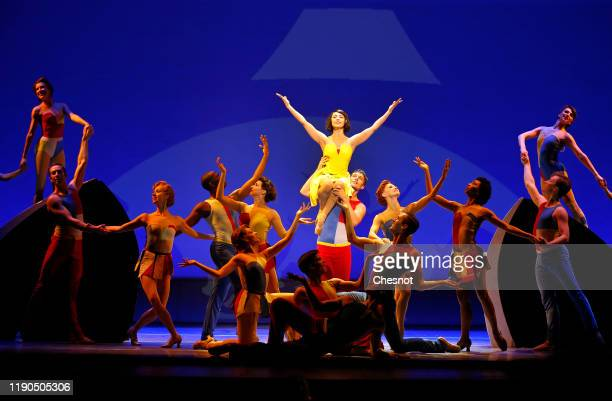 Artist Leanne Cope as Lise Dassin performs during the musical comedy 'An American in Paris' at 'Theatre du Chatelet' on November 27, 2019 in Paris,...