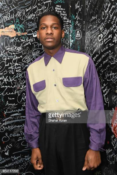 Artist Leon Bridges backstage during The Apollo Presents: Soundtrack '63 at The Apollo Theater on February 24, 2018 in New York City.