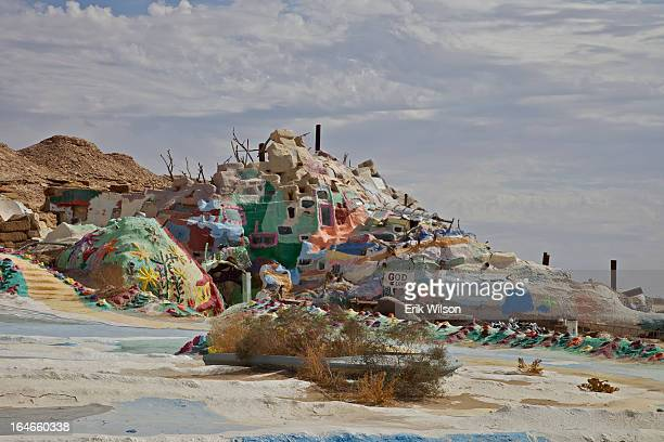 CONTENT] Artist Leonard Knight's installation known as Salvation Mountain Slab City near Niland just south of the Salton Sea