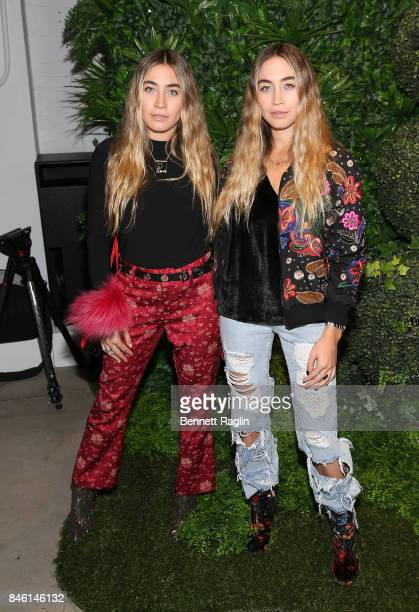 Artist Lexi Caplan and Allie Caplan attends Alice Olivia By Stacey Bendet fashion show New York Fashion Week The Shows at Gallery 2 Skylight Clarkson...