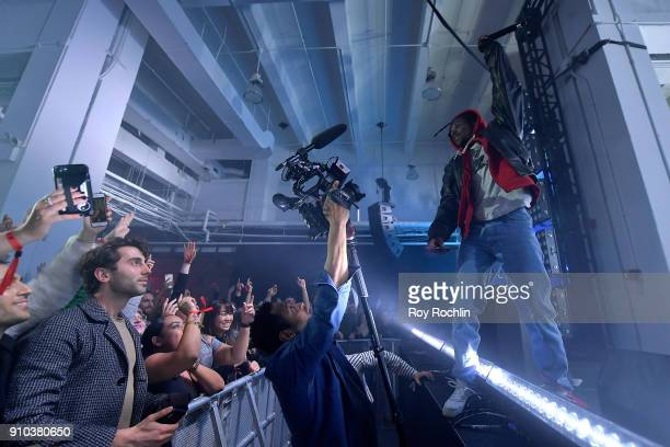 Artist Lil Uzi Vert performs at Spotify's Best New Artist Party at Skylight Clarkson on January 25 2018 in New York City