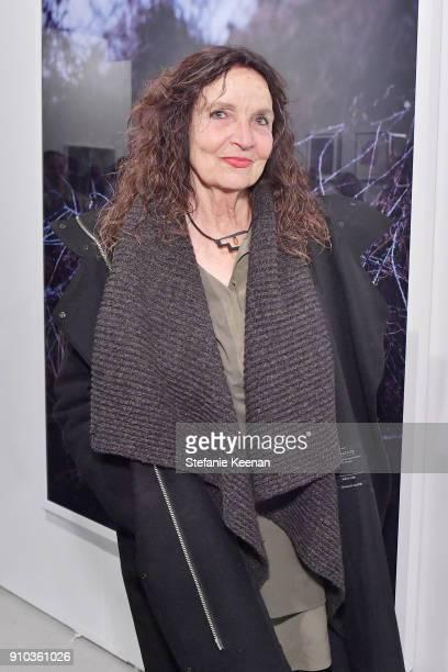 Artist Lita Albuquerque at OPENING NIGHT   ART LOS ANGELES CONTEMPORARY 9TH EDITION at Barkar Hangar on January 25 2018 in Santa Monica California