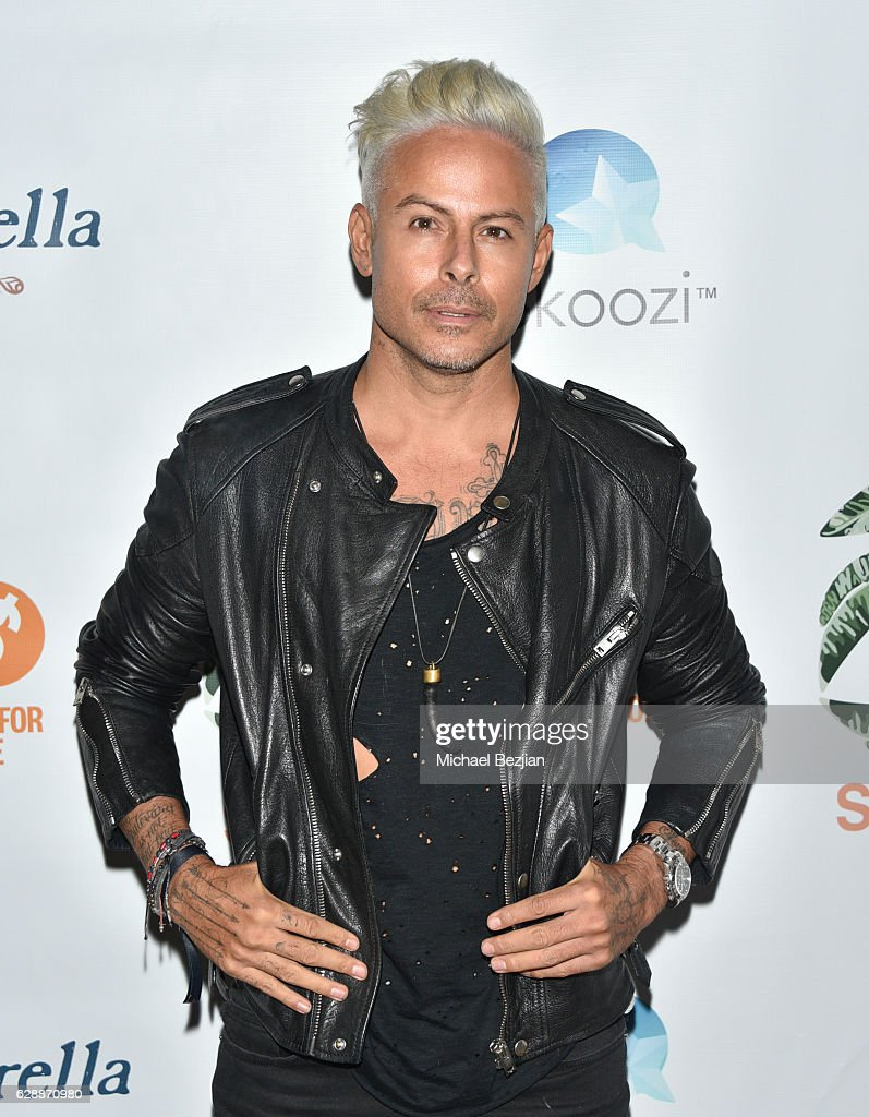 Artist Louis Carreon arrives at Not For Sale x Z Shoes Benefit at Estrella Sunset on December 9, 2016 in West Hollywood, California.
