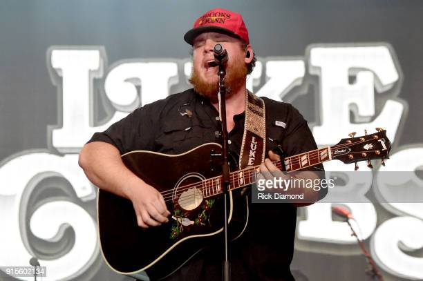 Artist Luke Combs performs onstage for New Faces of Country Music Show for Day 3 of CRS 2018 on February 7 2018 in Nashville Tennessee