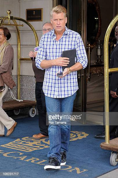 Artist manager Joe Simpson leaves his Midtown Manhattan hotel on October 12, 2010 in New York City.