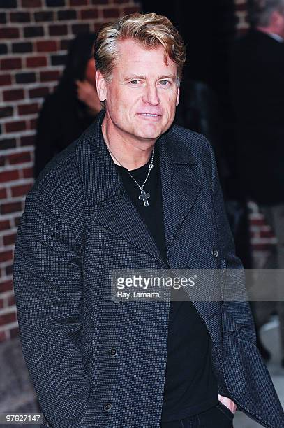 """Artist manager Joe Simpson visits the """"Late Show With David Letterman"""" at the Ed Sullivan Theater on March 10, 2010 in New York City."""