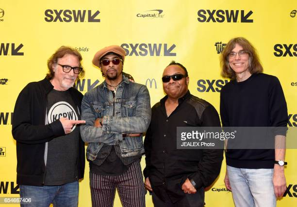 Artist manager Owen Husney musician Andre Cymone President/CEO of Pavillion Entertainment Dez Dickerson and Sr writer of Rolling Stone Magazine David...