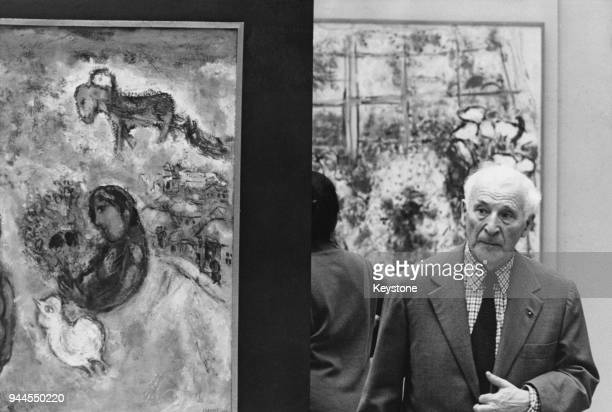 Artist Marc Chagall at an exhibition of his work at the Museum of Art in Zurich, Switzerland, 23rd May 1967.