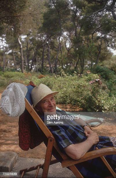 Artist Marc Chagall at Cap Eden Roc in the south of France August 1976