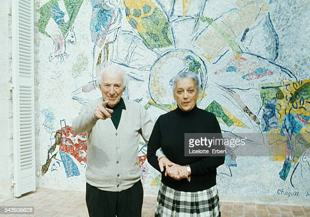 Artist Marc Chagall with his wife Valentina Brodsky known as Vava