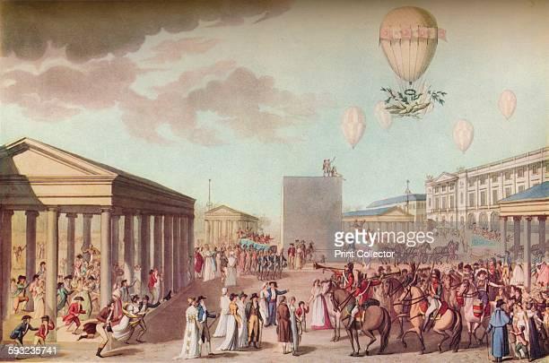 Artist Marchand Otto Limited 'Fete Du Sacre Et Couronnement De Leurs Majestes Imperiales' circa 1804 An etching depicting festivities at the...