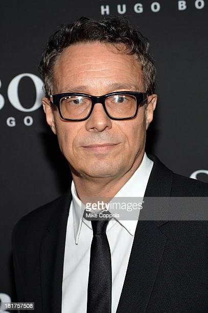 Artist Marco Brambilla attends HUGO BOSS celebrates Columbus Circle BOSS flagship opening featuring premiere of 'Anthropocene' by Marco Brambilla on...