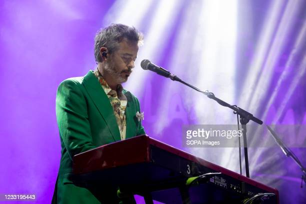 Artist Marco Pombinho member of Portuguese Band The Black Mamba in concert at the super bock arena, on May 28 Porto, Portugal.