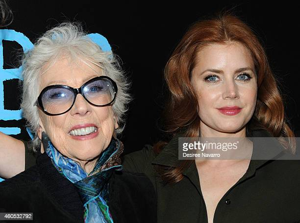 Artist Margaret Keane and actress Amy Adams attend Big Eyes New York Premiere at Museum of Modern Art on December 15 2014 in New York City