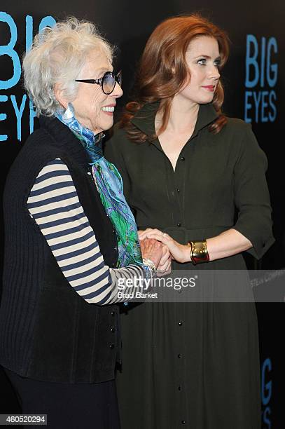 """Artist Margaret Keane and actress Amy Adams attend the """"Big Eyes"""" New York Premiere at Museum of Modern Art on December 15, 2014 in New York City."""