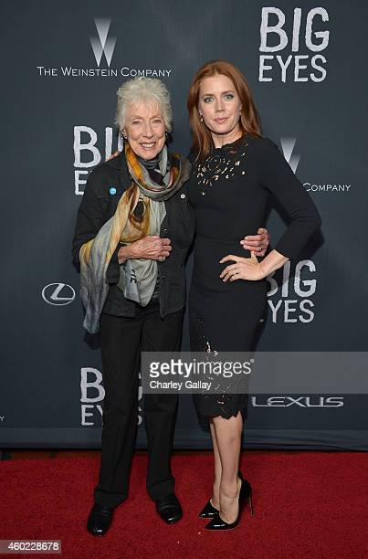 """Artist Margaret Keane and actress Amy Adams attend The Weinstein Company's """"Big Eyes"""" Los Angeles special screening in partnership with Lexus at Ace..."""