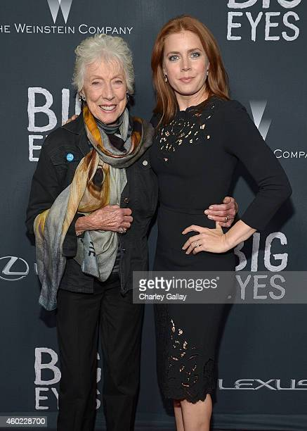 Artist Margaret Keane and actress Amy Adams attend The Weinstein Company's Big Eyes Los Angeles special screening in partnership with Lexus at Ace...