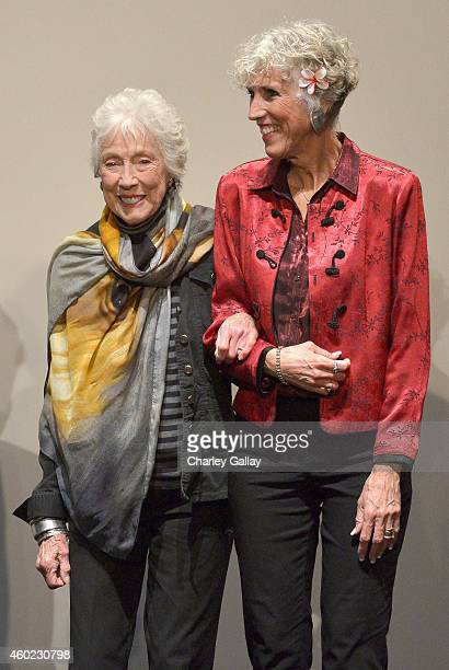 Artist Margaret Keane and daughter Jane Ulbrich onstage during The Weinstein Company's Big Eyes Los Angeles special screening in partnership with...