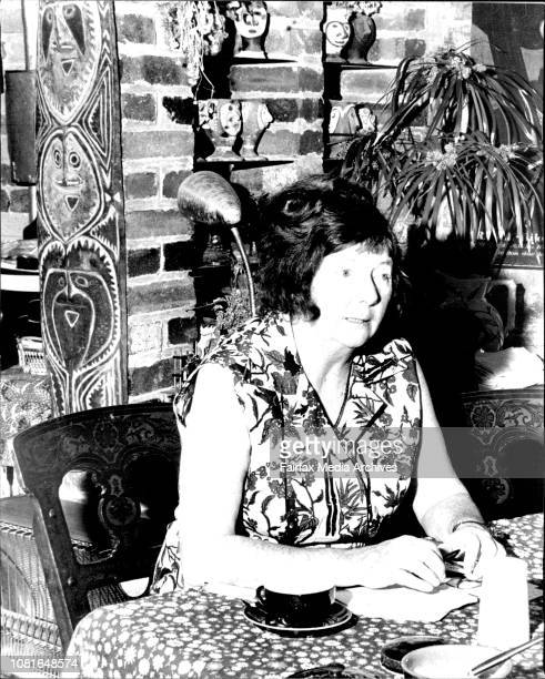 Artist Margaret Olley at her Paddington home today October 27 1978