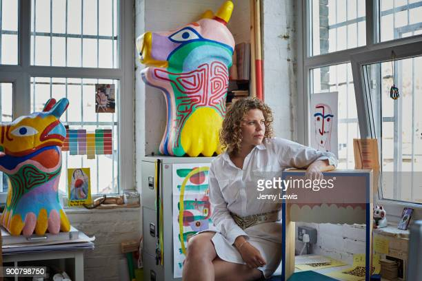 Artist Margot Bowman is photographed in her studio on June 3 2013 in Hackney East London England