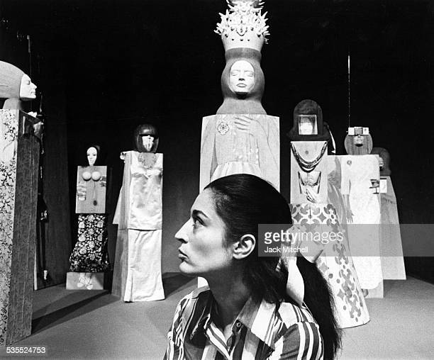 Artist Maria Sol Escobar, known as Marisol, photographed in 1968.