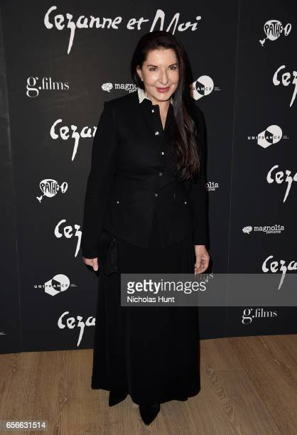 Artist Marina Abramovic attends the 'Cezanne Et Moi' New York Premiere at the Whitby Hotel on March 22 2017 in New York City