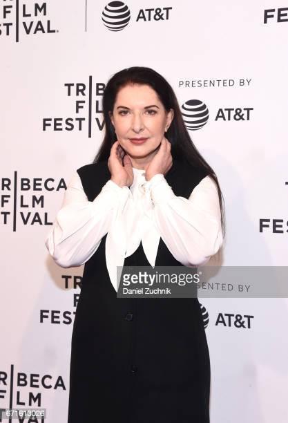 Artist Marina Abramovic attends Tribeca Talks Alejandro Gonzalez Inarritu during the 2017 Tribeca Film Festival at SVA Theatre on April 22 2017 in...