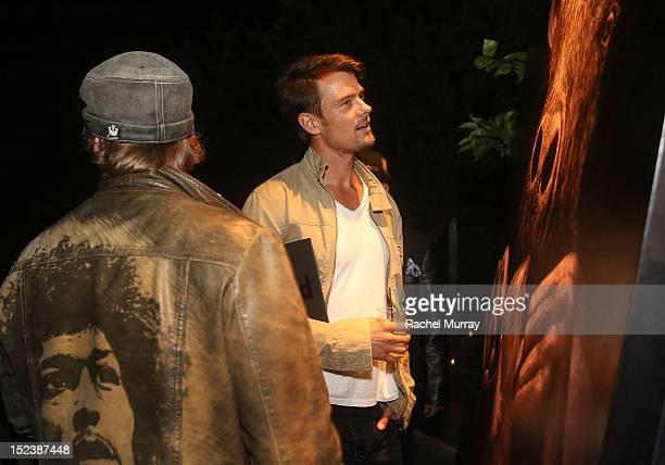 Artist Mark Evans and actor Josh Duhamel attend CARTELART presents Mutual Consent Featuring Jordi Molla Antonio del Prete Mark Evans And Harry...
