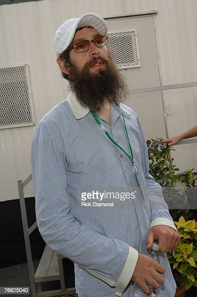 Artist Matisyahu The Jewish Rapper Backstage at Farm Aid 2007 AT ICAHN Stadium on Randall's Island NY September 92007