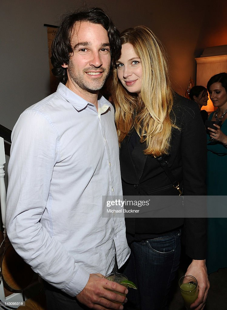 Artist Matthew Heller (L) and actress Anne Dudek attend the Launch Party for Kishani Perera's new book, 'Vintage Remix' at Rummage on April 18, 2012 in Los Angeles, California.