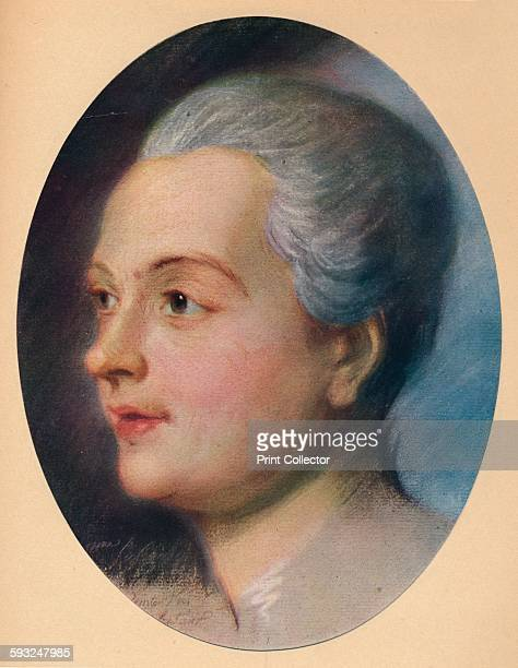 Artist MauriceQuentin de La Tour 'Portrait of a Lady' circa 1751 From The French Pastellists of the Eighteenth Century by Haldane MacFall [MacMillan...