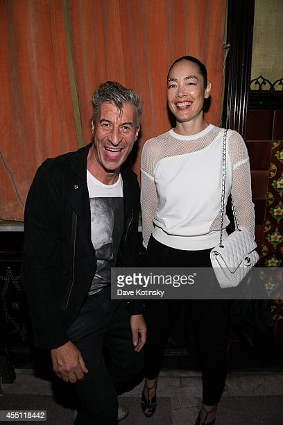 Artist Maurizio Cattelan and Cecilia Dean attend the first Tumblr Fashion Honor presented to Rodarte at The Jane Hotel on September 9 2014 in New...