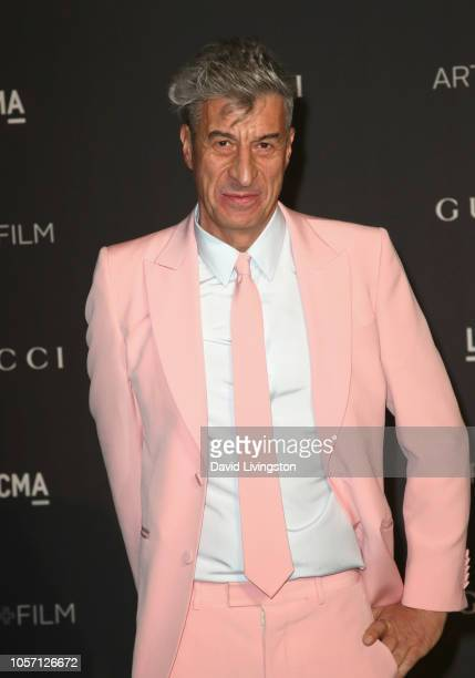 Artist Maurizio Cattelan attends 2018 LACMA Art Film Gala honoring Catherine Opie and Guillermo del Toro presented by Gucci at LACMA on November 3...