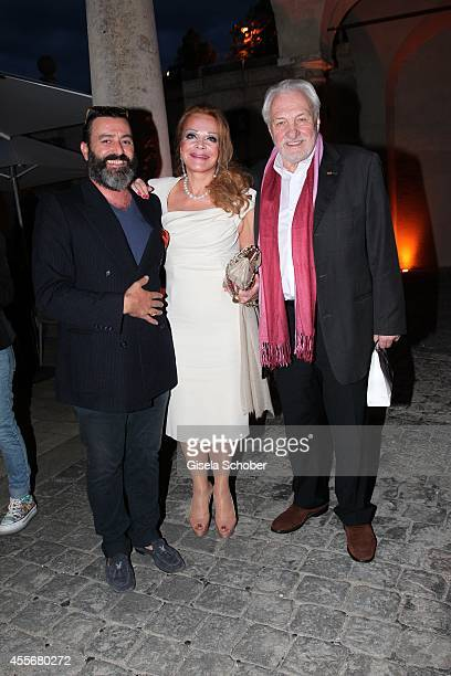 Artist Mauro Bergonzoli and Ulrike Huebner and her husband Erich Kaub attend the Exhibition Opening of Mauro Bergonzoli at Bayerisches Nationalmuseum...