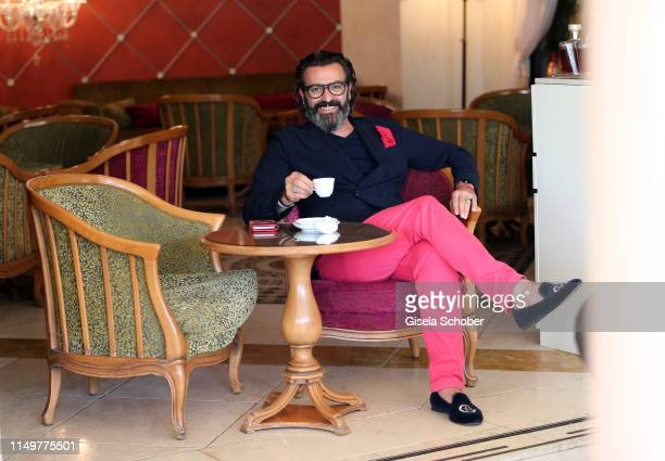 Artist Mauro Bergonzoli at the Hotel Belmond Cipriani on June 12 2019 in Venice Italy