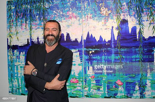 Artist Mauro Bergonzoli attends the Mauro Bergonzoli Exhibition 'Selected Works' at Hubert Burda Media Communication Highway on June 3 2014 in Munich...