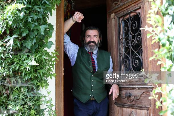 Artist Mauro Bergonzoli during a photo session in his private Country Atelier on August 30 2017 in Kirchheim near Augsburg Germany