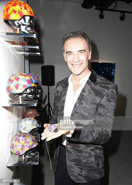 Artist Mauro Perucchetti attends the Mauro Perucchetti's Pop Fiction Exhibition at De Re Gallery on September 10 2015 in West Hollywood California